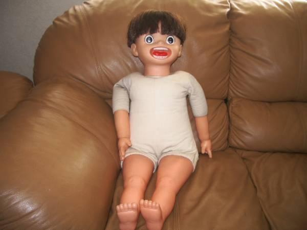 超レトロ! まことちゃん 当時物の抱き人形 (75cm)その1