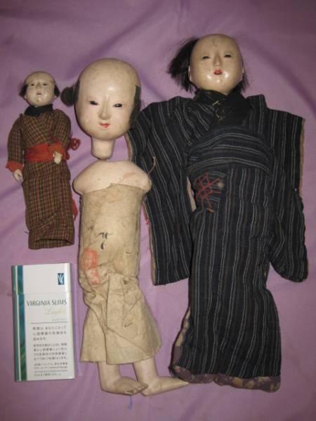 市松人形 3体★瀬戸人形 土人形 郷土 雛人形
