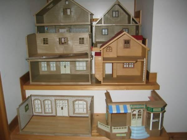 シルバニアファミリー 赤い屋根のお家他どっさり 中古品