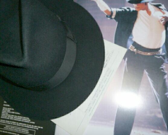 マイケルジャクソン コンサート着用 帽子 証明付き
