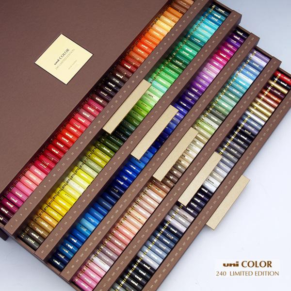三菱Uni 色鉛筆240色