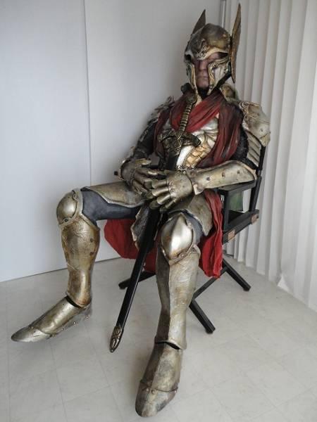 甲冑 等身大フィギア 鎧 撮影用 展示品 椅子付