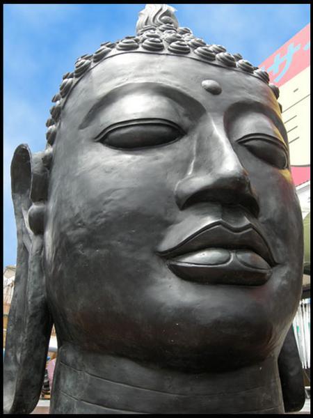 仏陀ヘッド真鍮製