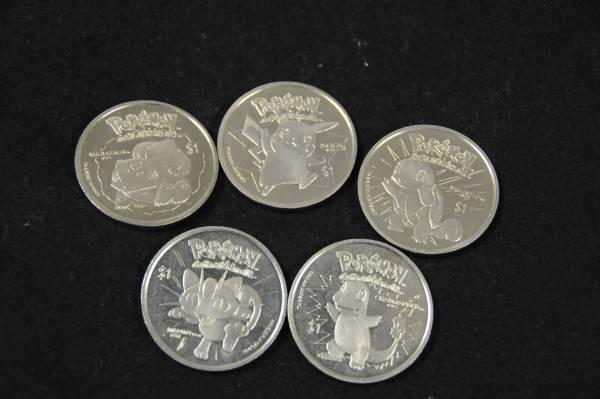 ニュージーランド・ポケモン記念1$コイン