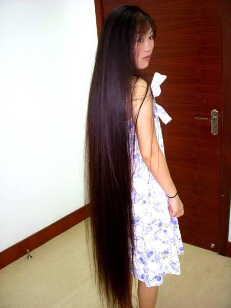 髪束 ・145cm 400g ・カット黒髪