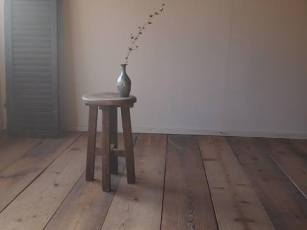 古い木の スツール 丸椅子 アンティークチェア