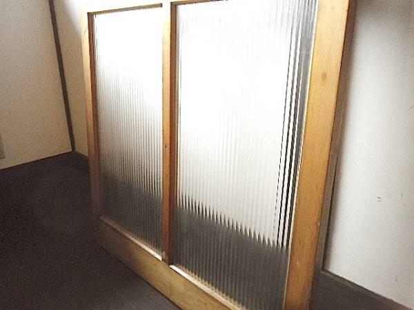 格安! モールガラスの引き戸 アンティーク レトロ