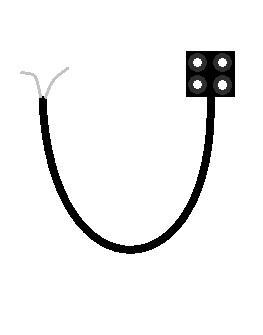 RCXケーブルは普通の電気工作用のケーブルより被膜が剥き難いよ。