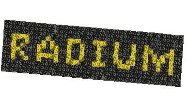 MLCADで作成したRadiumロゴです。若干残念ですがその辺りはご容赦くださいね(笑)