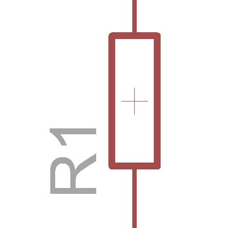 抵抗の回路図記号です。最近新しくなりました。古いやつはギザギザな感じのやつなのですが、ぶっちゃっけ古い方がまだ一般的です。僕もいつも古い方を使っています。