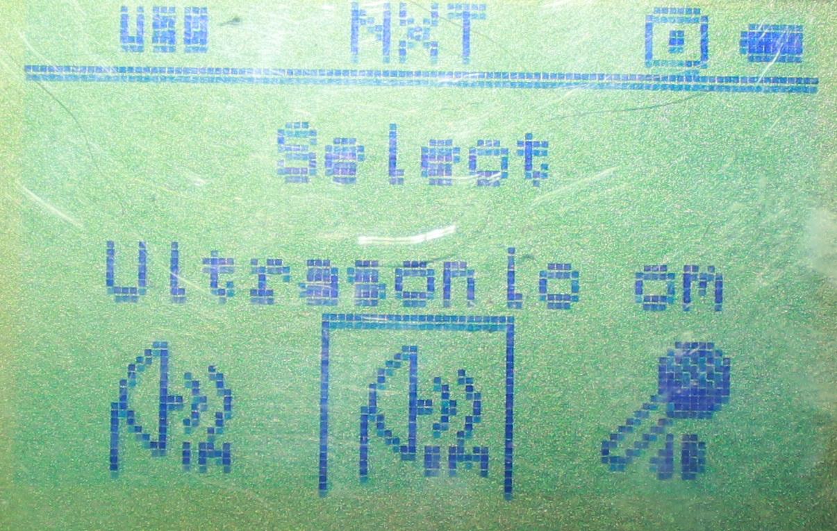 超音波センサーの選択画面です。これは多分どのファームでも変わらないはず・・・!