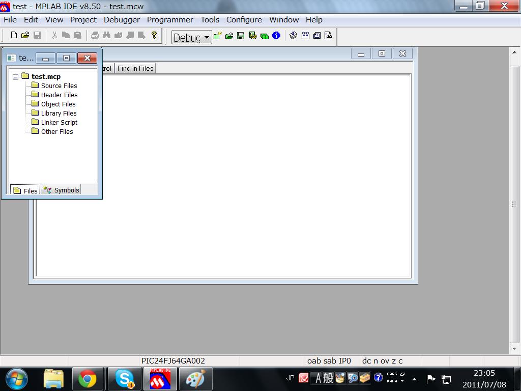 プロジェクトができましたね。これでようやくプログラムが書けます。