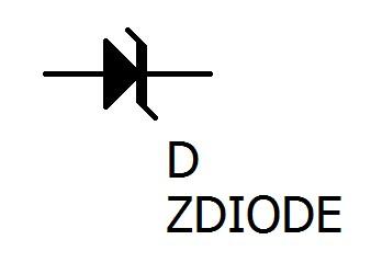 ツェナーダイオードの回路図記号です。