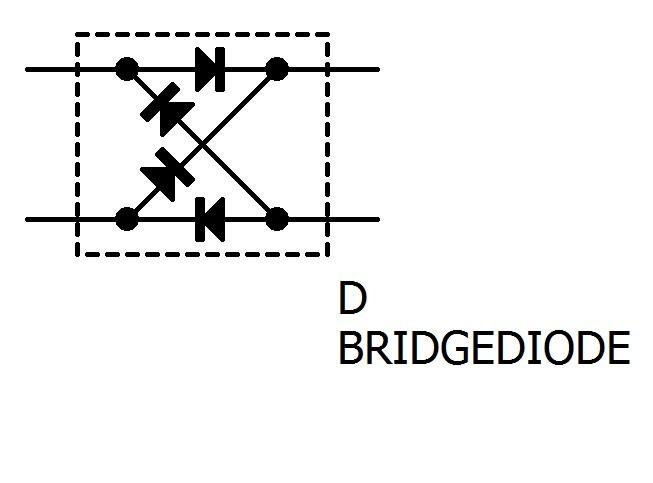 ブリッジダイオードの回路図記号です。