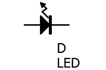 LEDの回路図記号です。