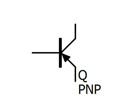 pnp型の回路図記号です