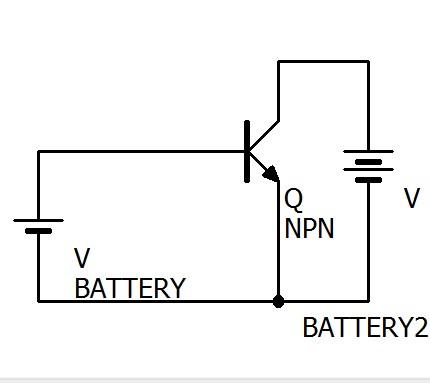 npn型トランジスタの回路です