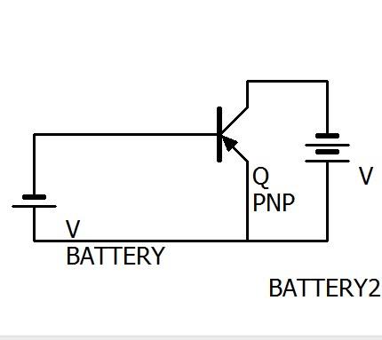 pnp型トランジスタの回路です。