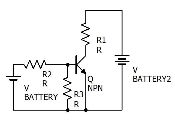 npnトランジスタの実用的な回路の例です