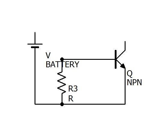 今度はBにBATTERYが繋がっていない場合の回路を抽出してみました。R2はないも同然なので消えますね。