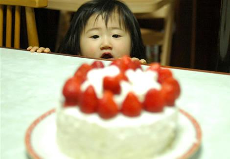 休日の手作りケーキ