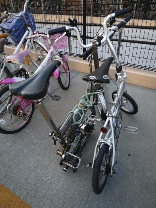 自転車の 折りたたみ自転車 電車 : 電車とGolf GTI 折りたたみ自転車