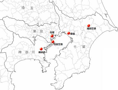 関東のカジノ候補地