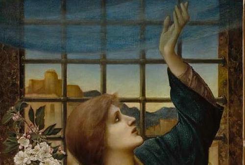 「Hope」1896年 Sir Edward Coley Burne-Jones Museum of Fine Arts, Boston