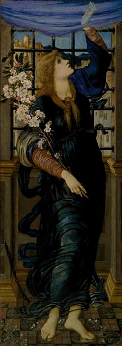 Spes or ope (1871) Sir Edward Burne-Jones Dunedin Public Art Gallery