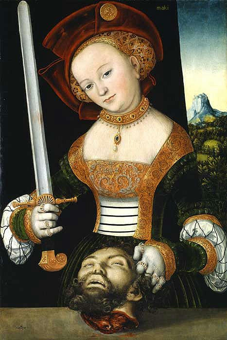 Lucas Cranach, Judith with the head of Holophernes