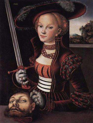 "Lucas Cranach the Elder, ""Judith Victorious,"" c.1530"