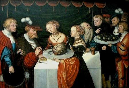 Lucas Cranach the Younger - Salome with the Head of John the Baptist
