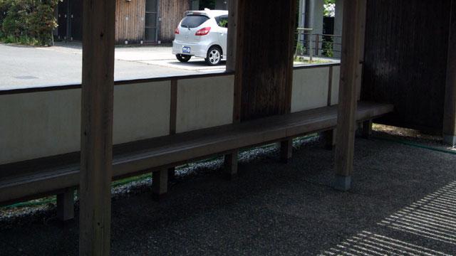 赤野駅の待合所