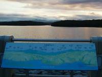 狭山湖の看板
