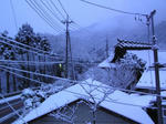 2月18日雪の朝