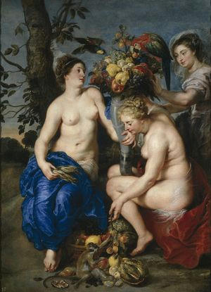 Ceres with two Nymphs-1624-Museo Nacional del Prado
