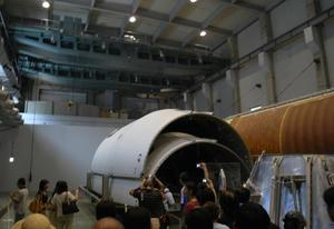 HⅡロケットの一部分です