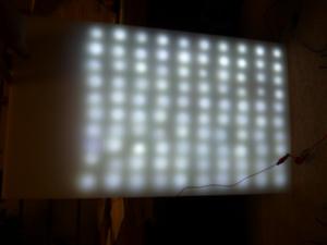 LED点灯+アクリル板
