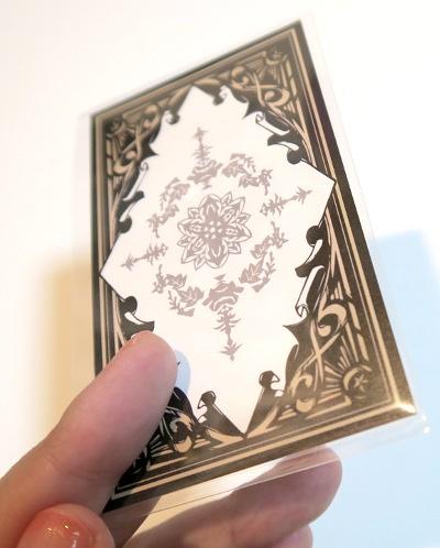 切り絵東方タロットカード裏紙