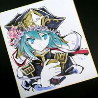 東方筆墨絵色紙四季映姫ヤマザナドゥ