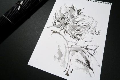 刀剣乱舞小夜左文字墨筆絵集本原画写真