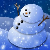 GIMPで雪だるまのクリスマスカードを作る方法