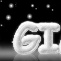 GIMPで作る氷のテキスト