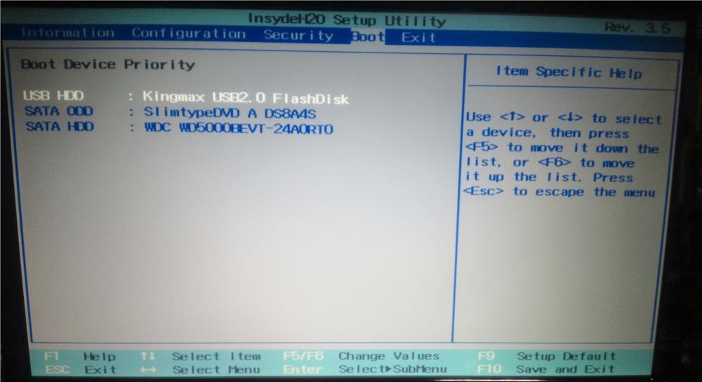 G560 boot usb