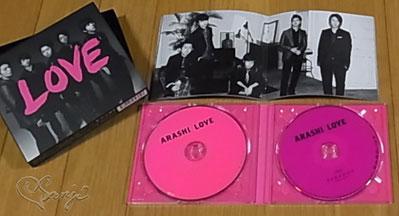 嵐LOVE初回限定盤CDの仕様