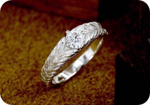 月桂樹の葉デザインのリング