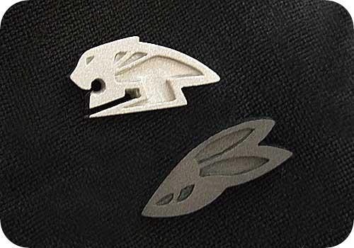 【タイバニ】 虎と兎ロゴでタイピン作るよ! 【ざらざらタイガーと真っ黒バニー!】