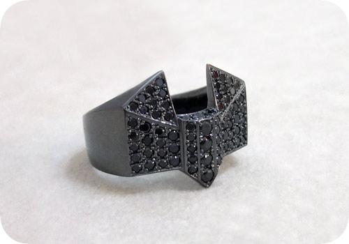 【タイバニ】 バーナビーの黒い指輪作るよ! 【ブラックジルコンver. その1】