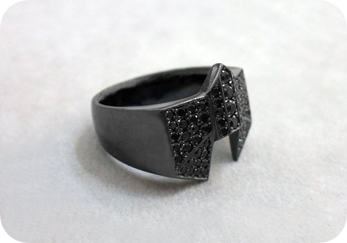 【タイバニ】 バーナビーの黒い指輪作るよ! 【ブラックジルコンver. その2】
