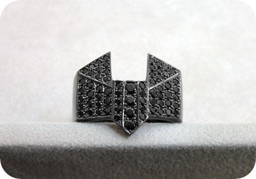 【タイバニ】 バーナビーの黒い指輪作るよ! 【ブラックジルコンver. その3】